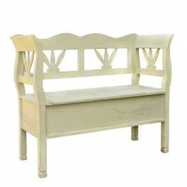 French Two Seater Storage Bench