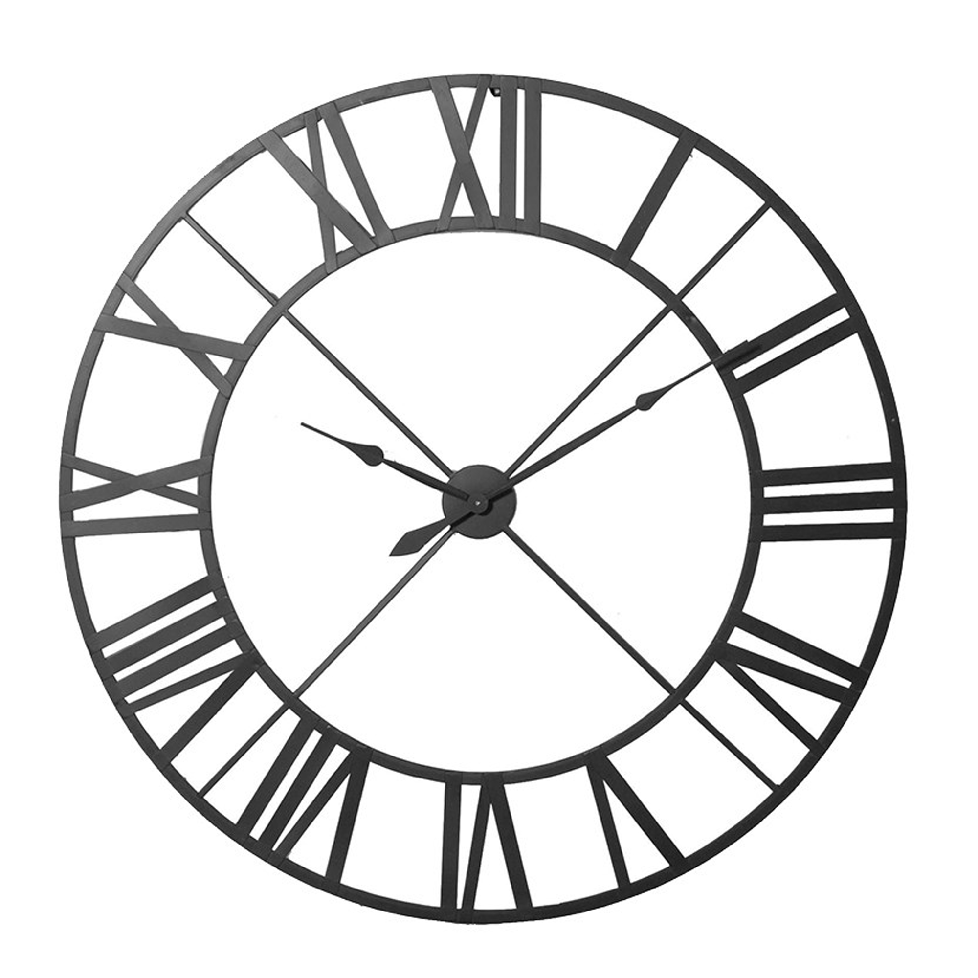 Large Wrought Iron Wall Clock