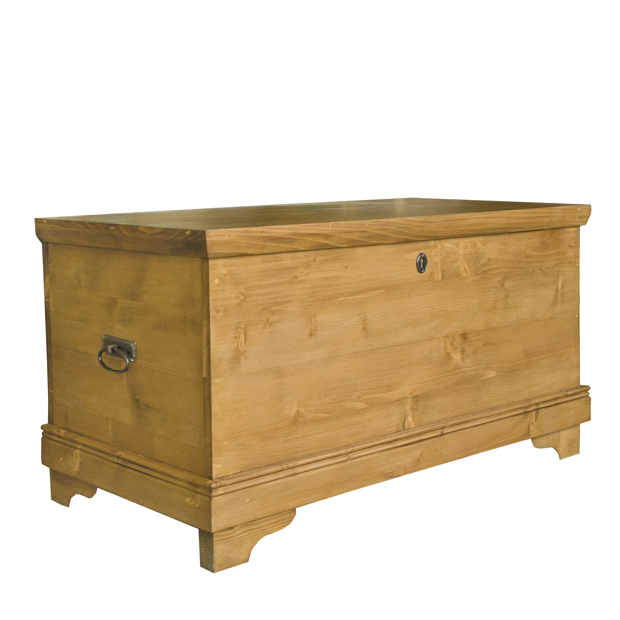 French Wooden Trunk