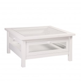 French Square Glass Coffee Table