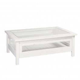 French Rectangular Glass Coffee Table