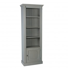 French Single Fluted Open Bookcase with Cupboard