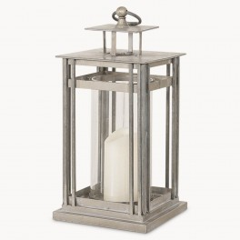 Metal and Glass Hurricane Lantern