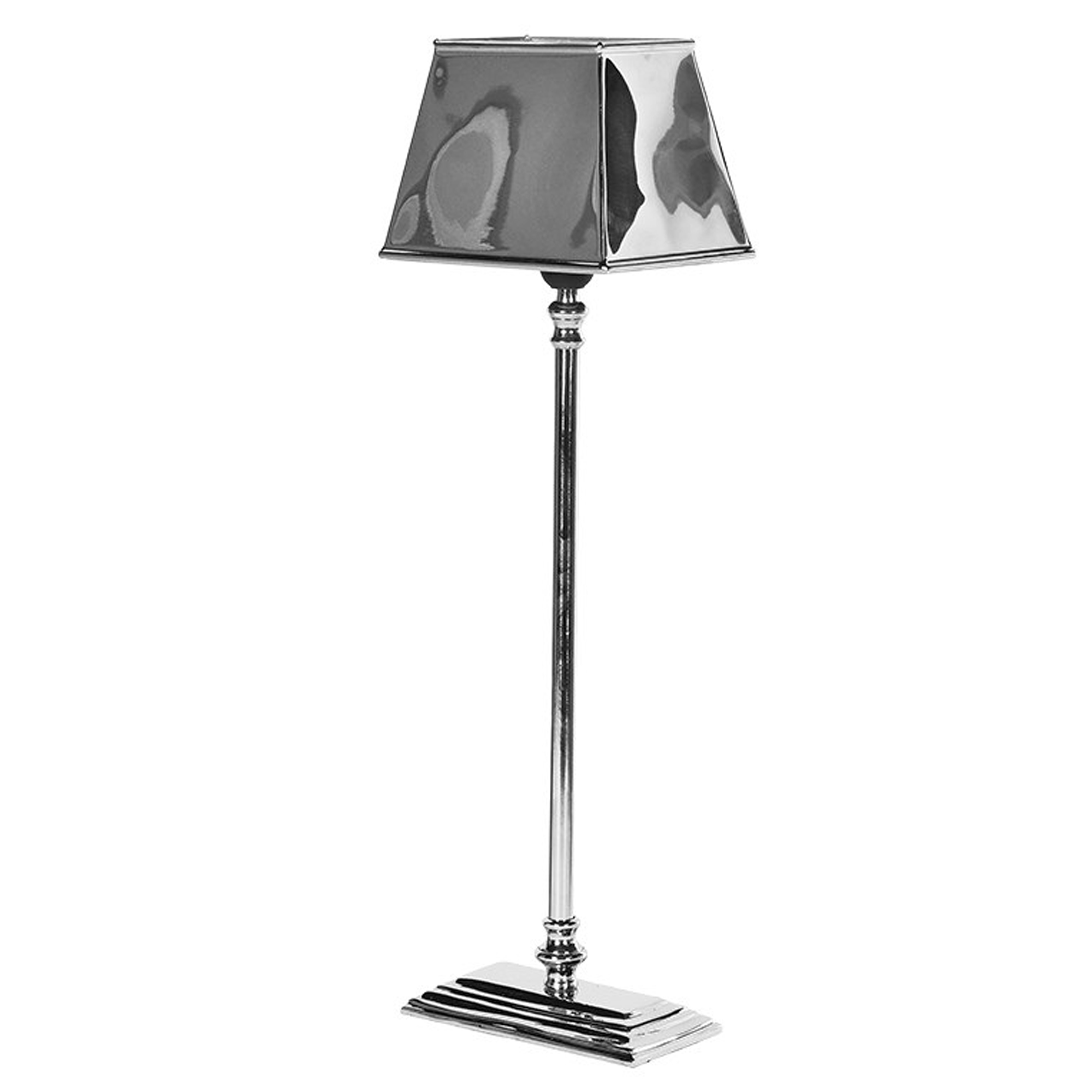 Stepped Aluminium Lamp With Shade