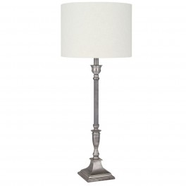 Antique Silver Table Lamp With Shade