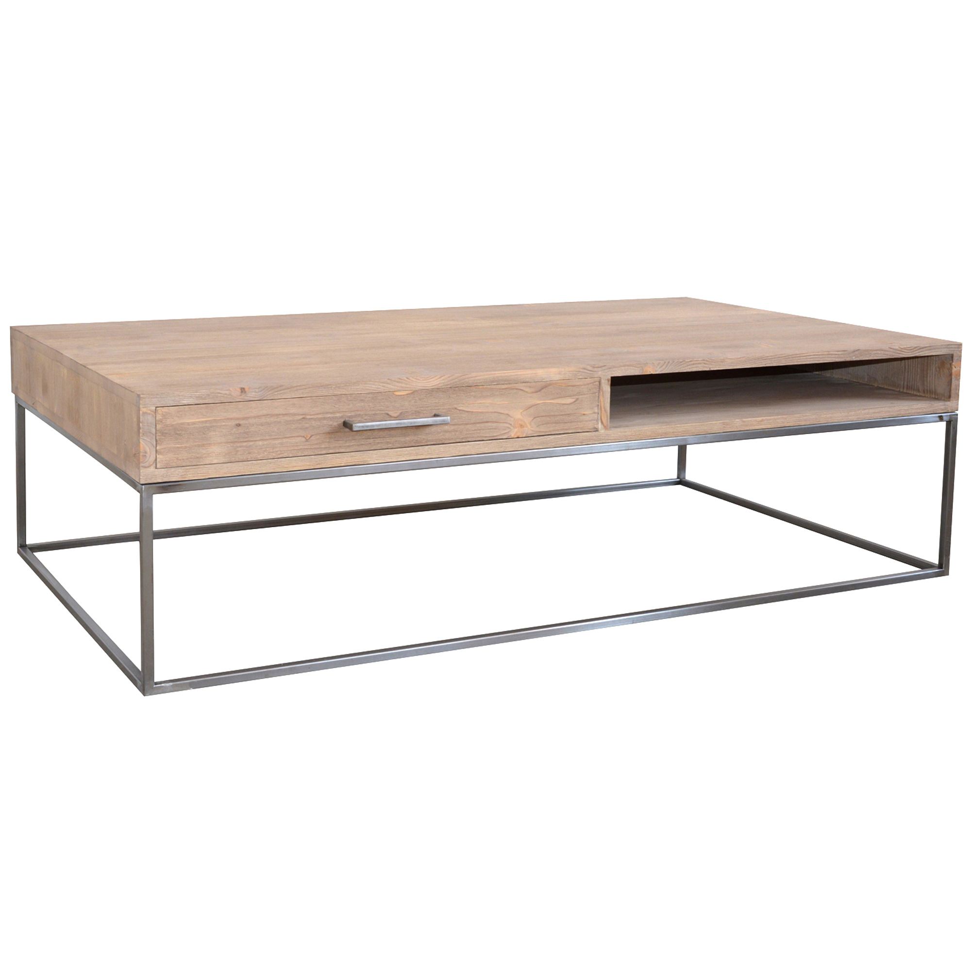 French coffee table with metal bar legs no 44 furniture cobham Aluminum coffee table legs