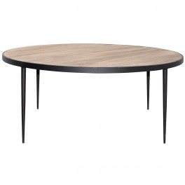 French Large Round Coffee Table