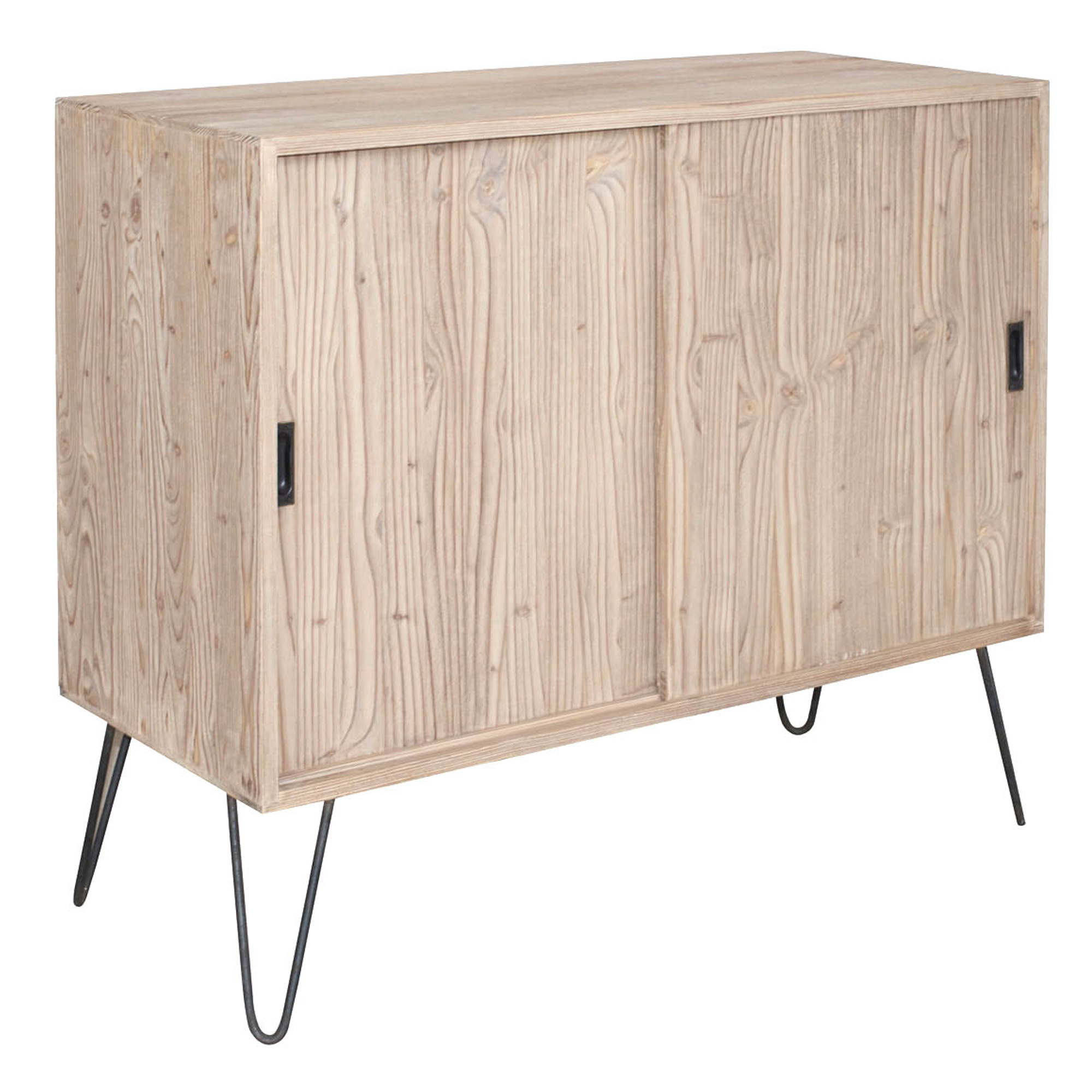 French sliding door sideboard with metal legs for Door furniture