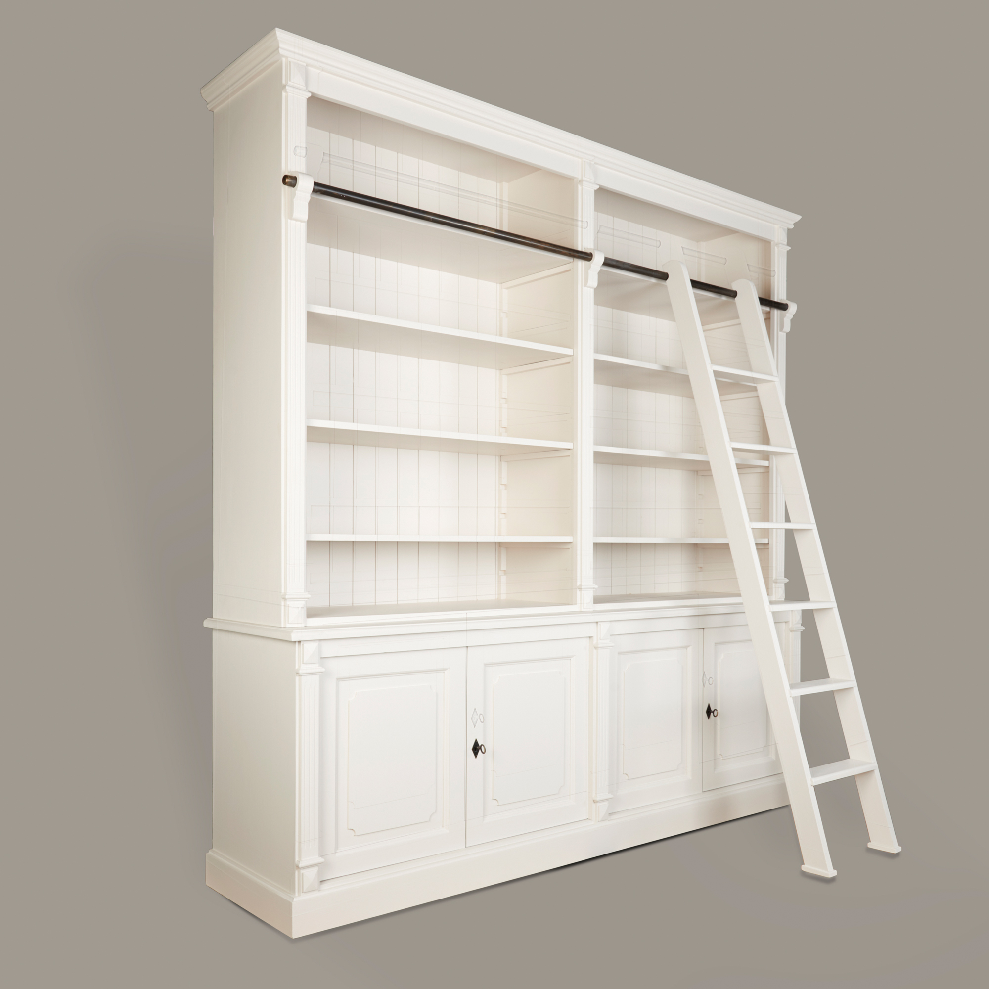 French Ladder for Large Fluted Open Bookcase