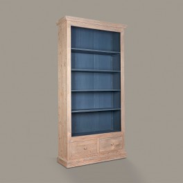 French Open Bookcase with Two Drawers
