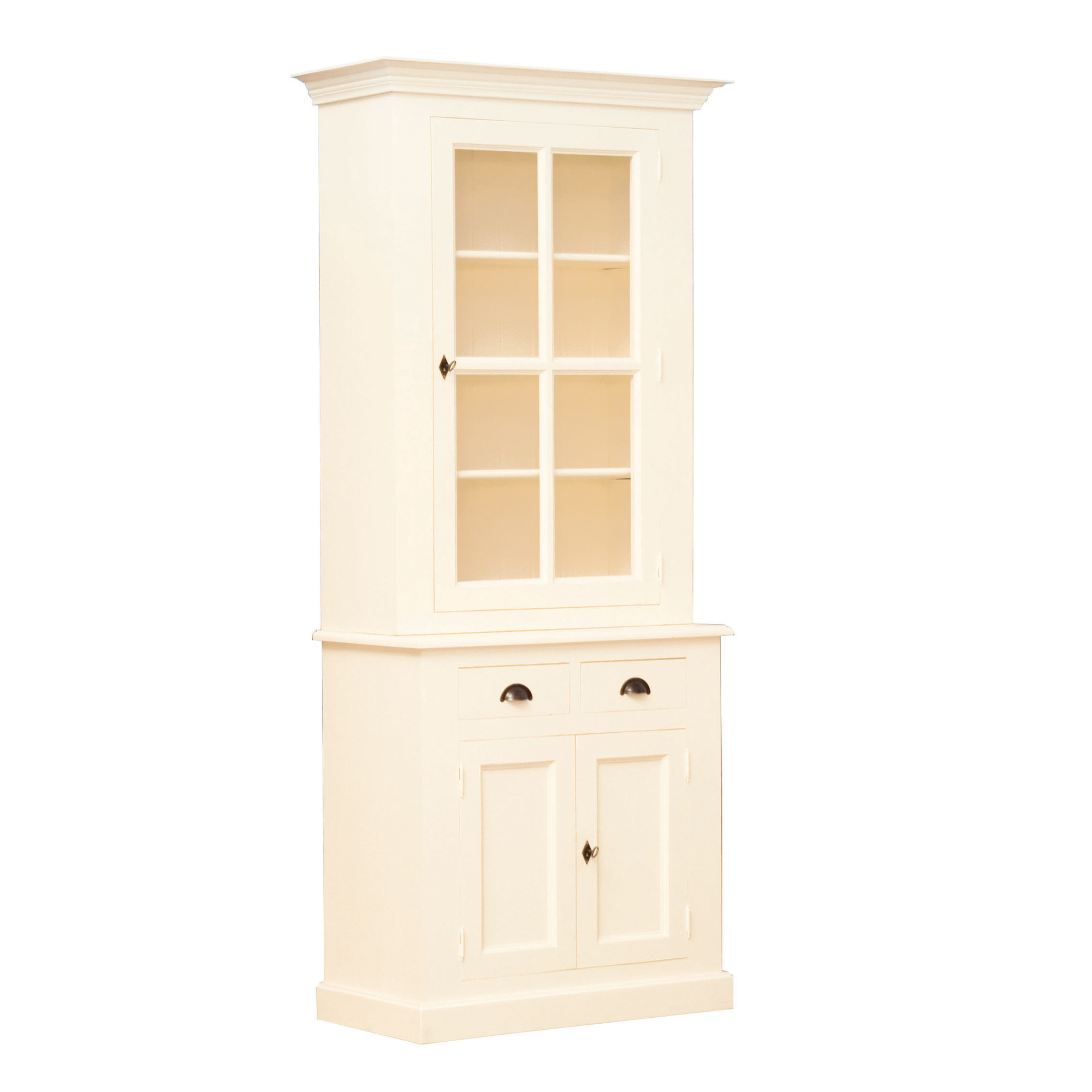 French Small Glazed Cupboard