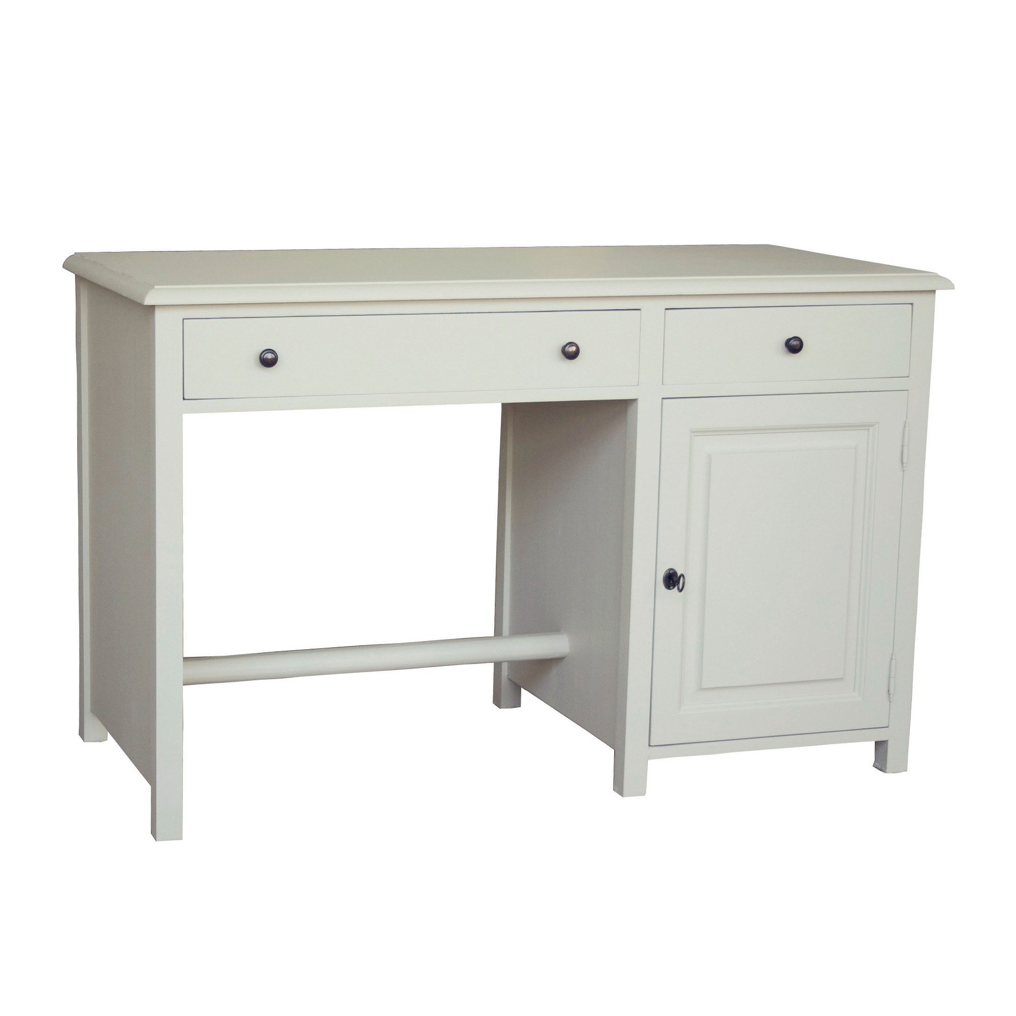 French Single Pedestal Desk