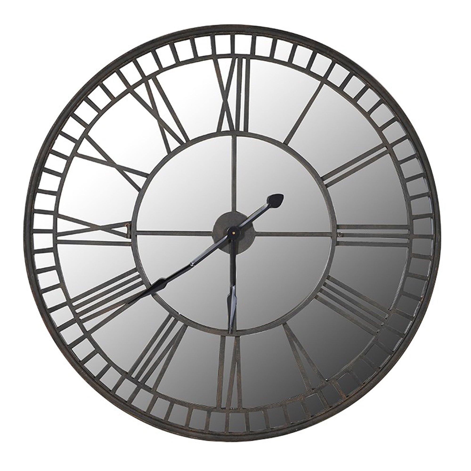 Iron Mirrored Wall Clock