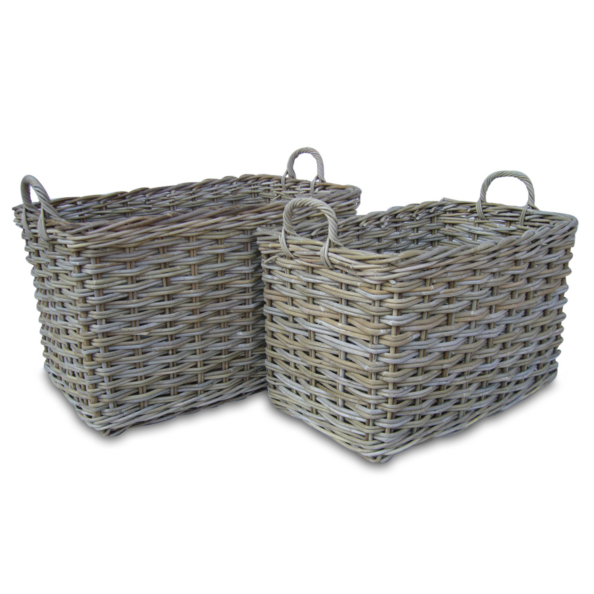 Rectangular Rattan Log Basket