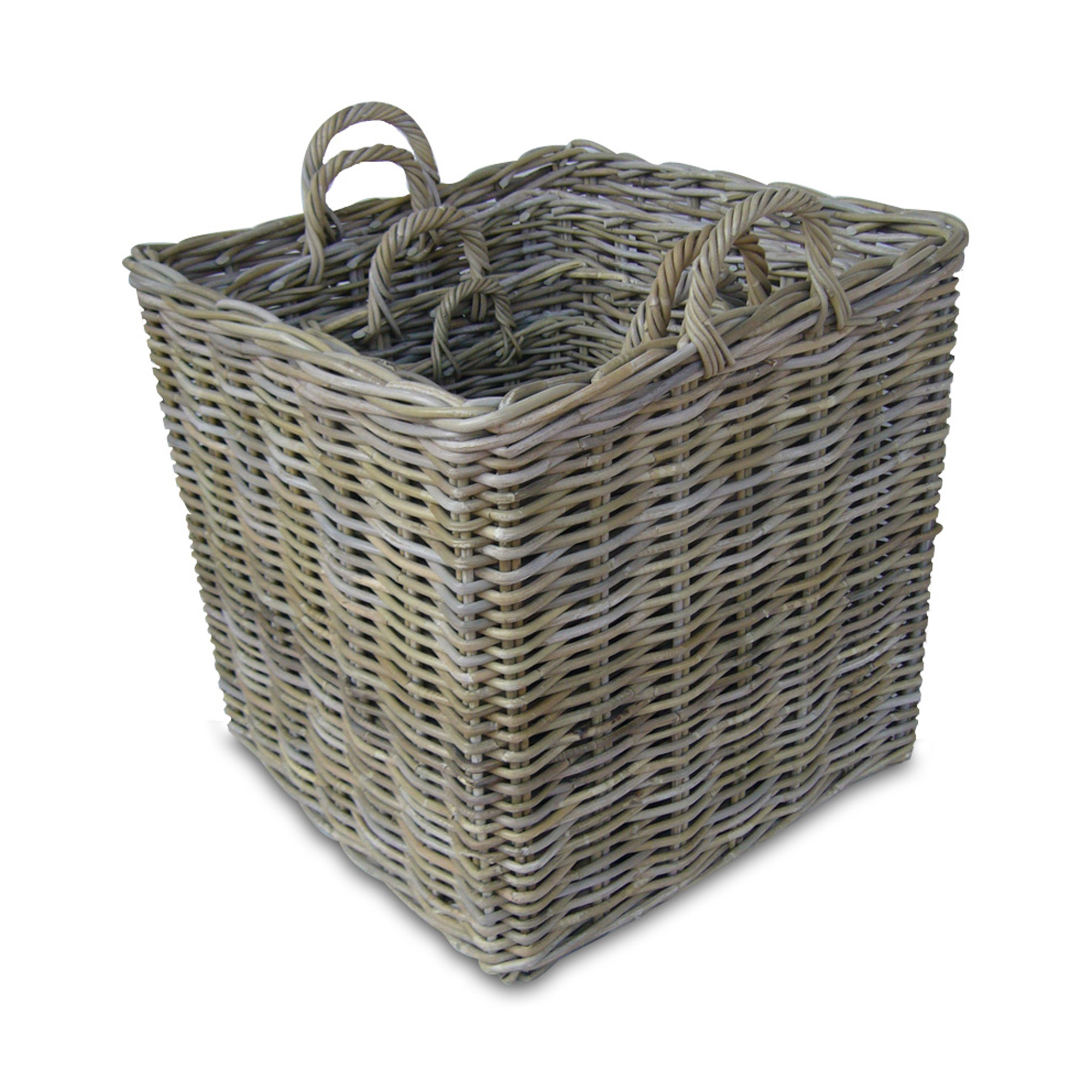 Rattan Basket Square - No 44 Furniture & Fine Things, Cobham