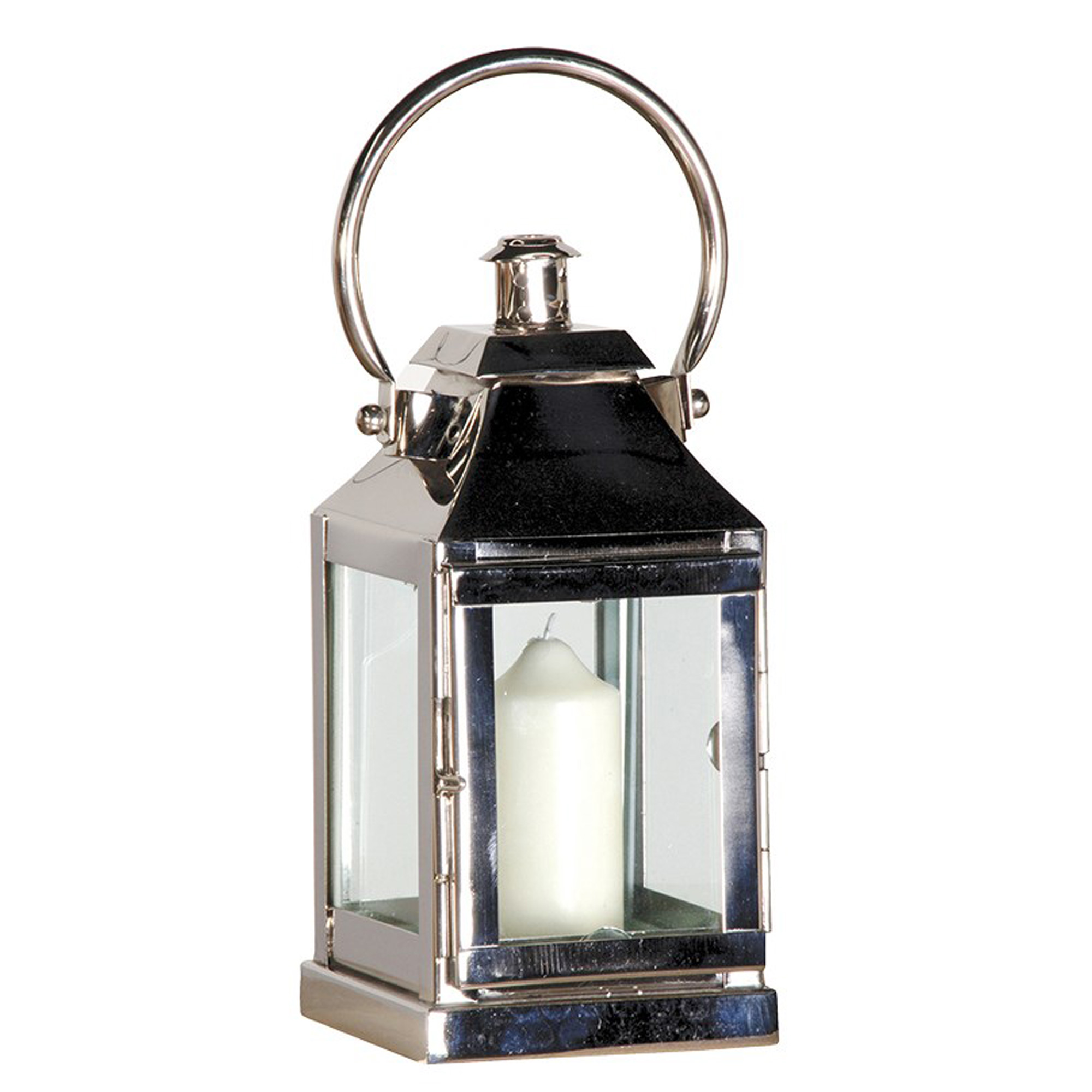 Small Nickel Finish Small Lantern