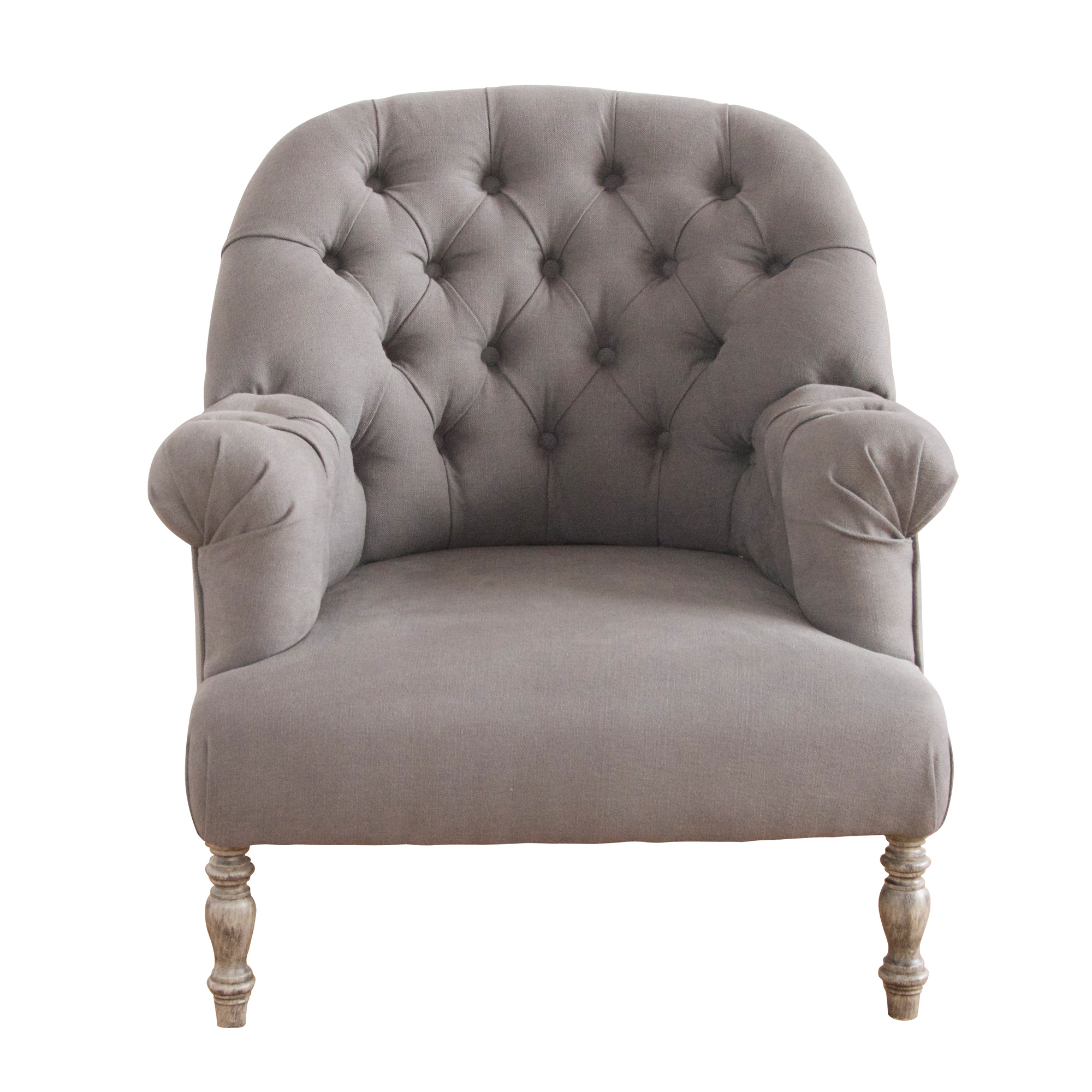 French Button Back Oxford Armchair - - No 44