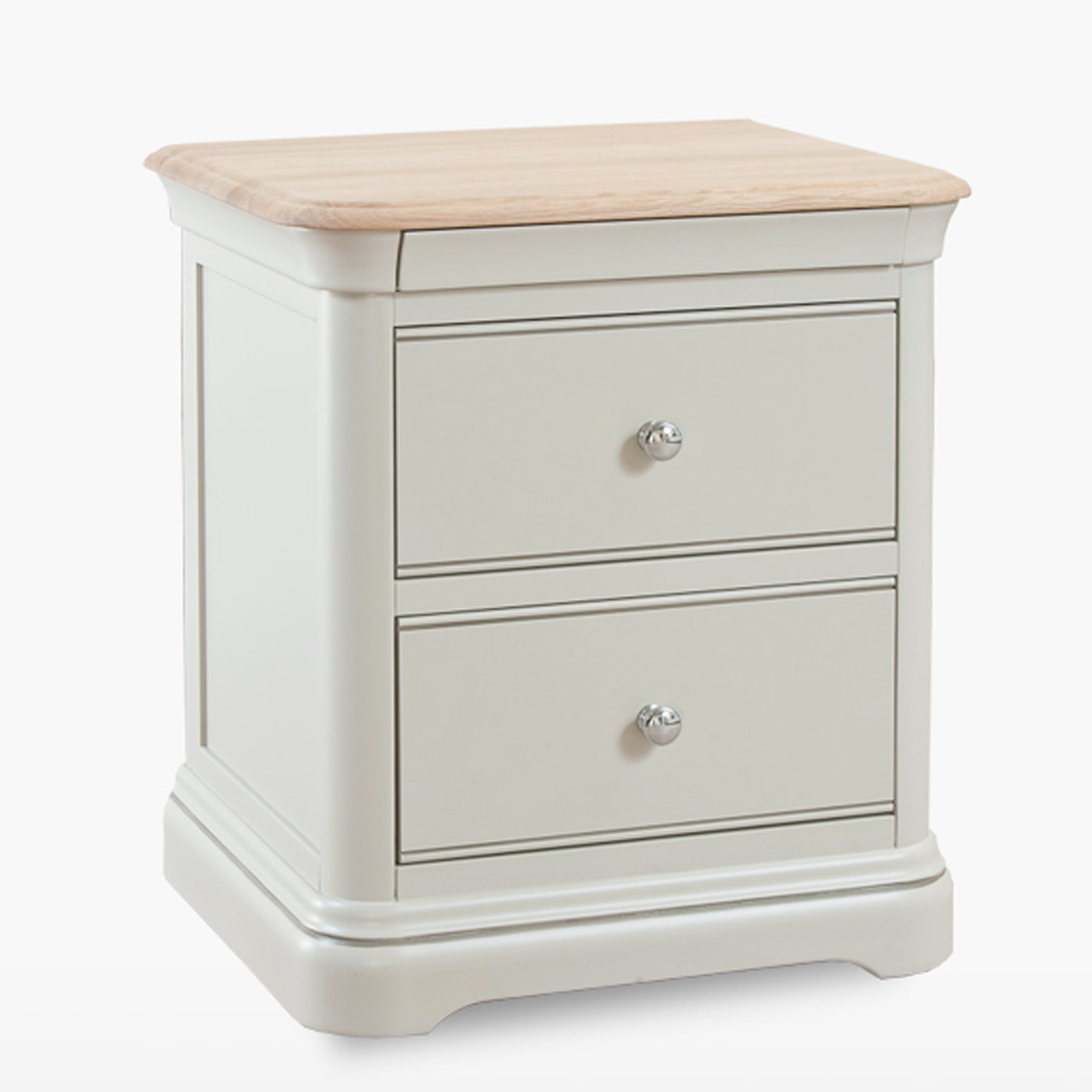 Cromer Large Two Drawer Bedside