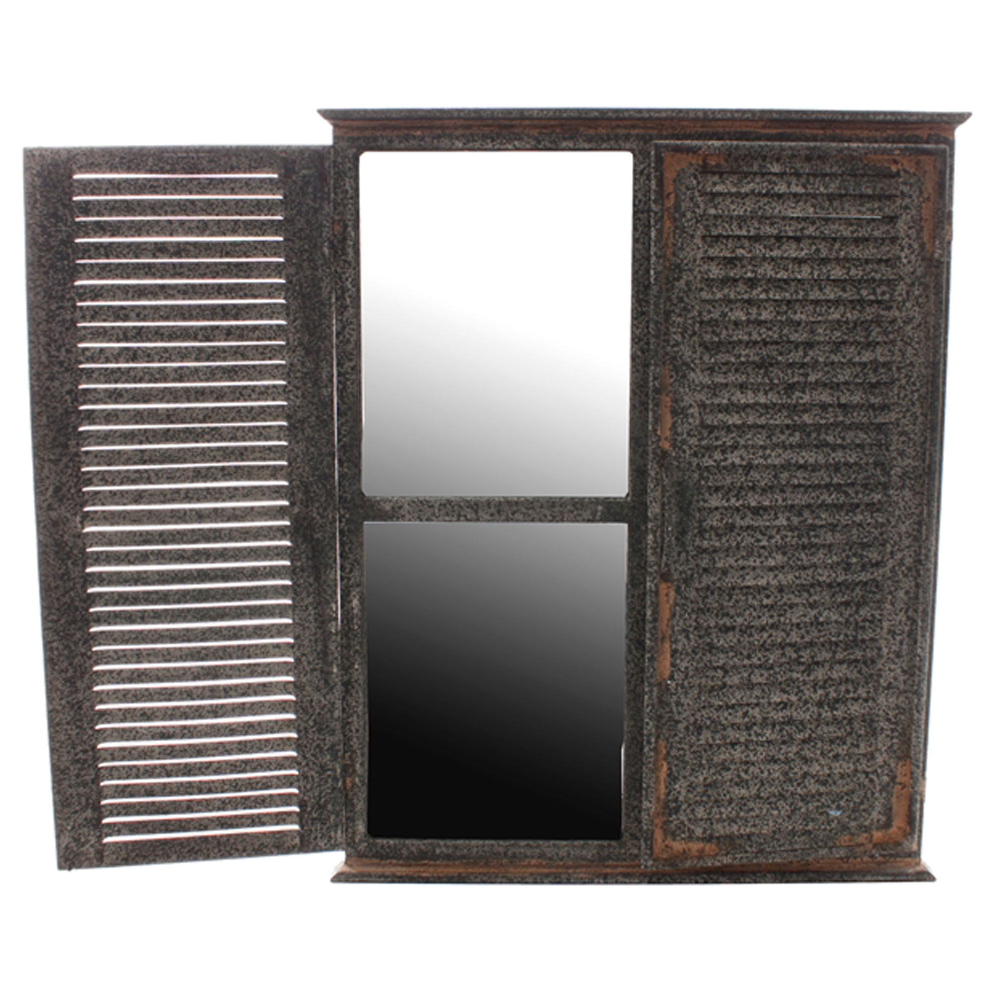 Outdoor Garden Shutter Mirror