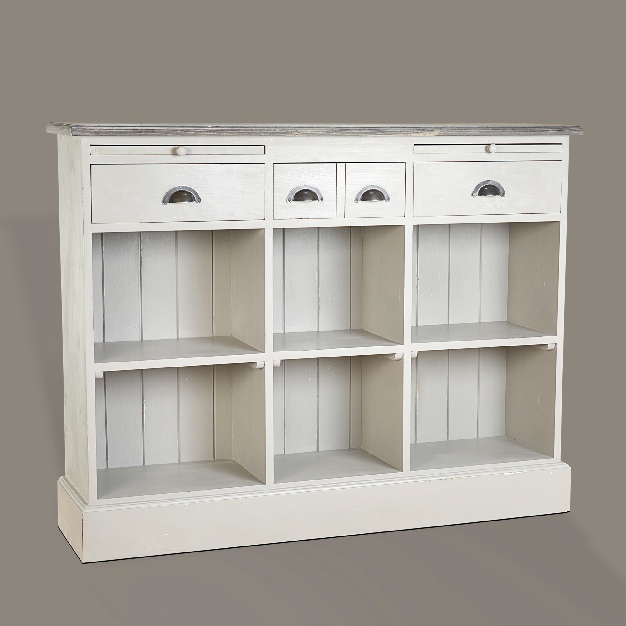 French Low Bookcase with Writing Leaves