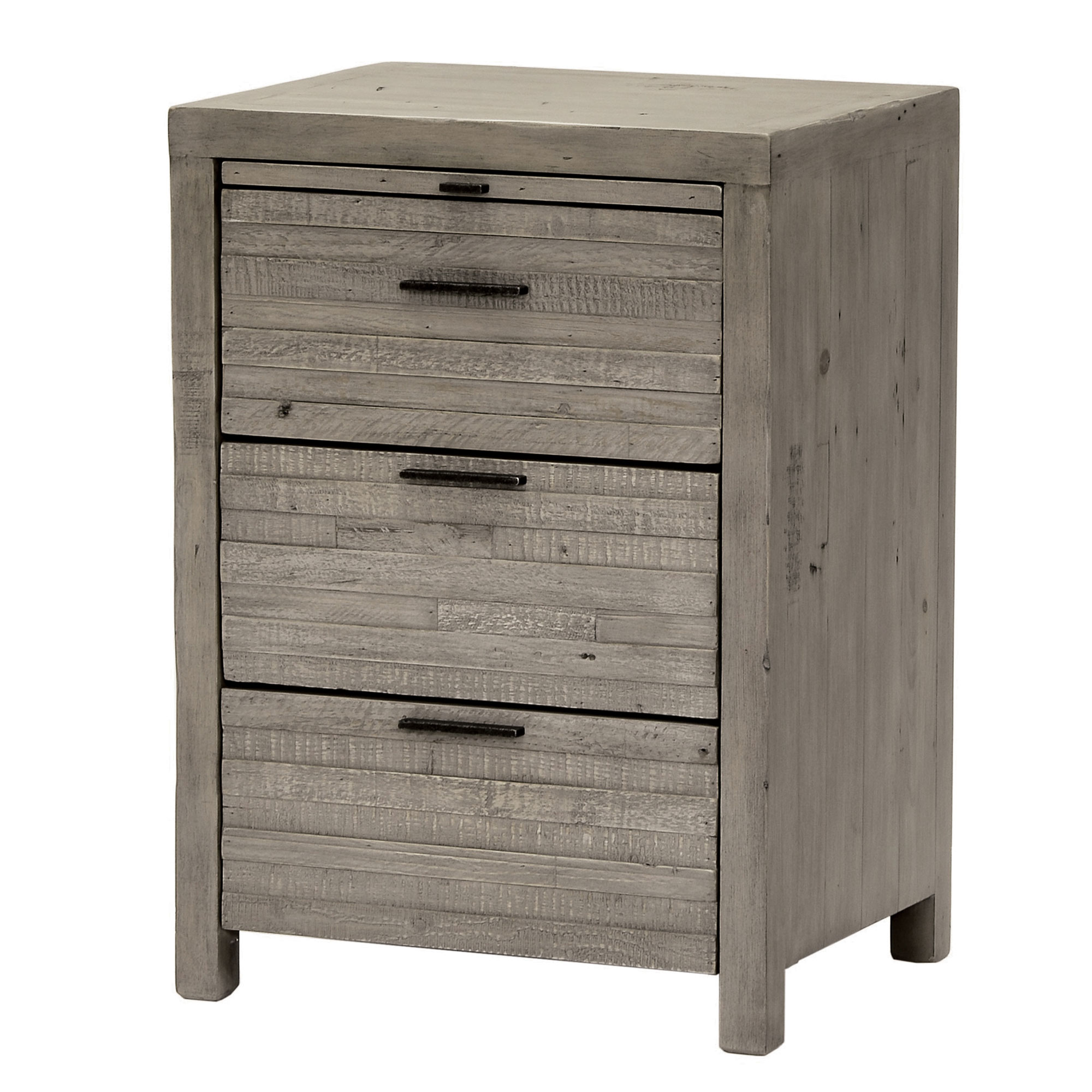 Siena Three Drawer Bedside