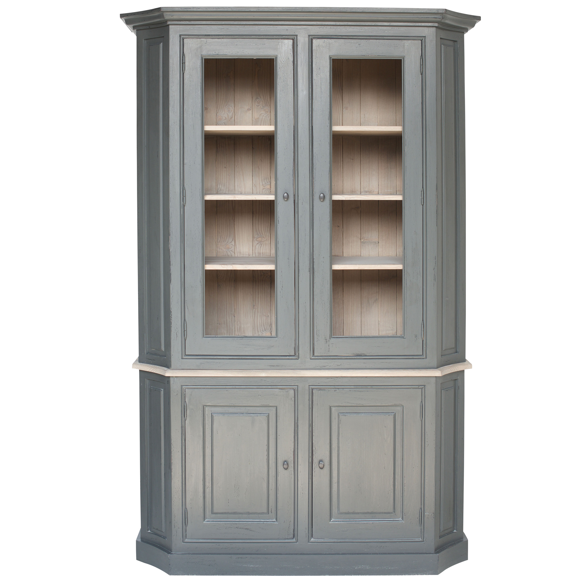 French Display Cabinet With Curved Front