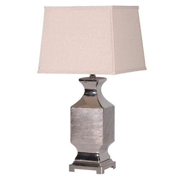 """""""Silver"""" Pattern Table Lamp"""