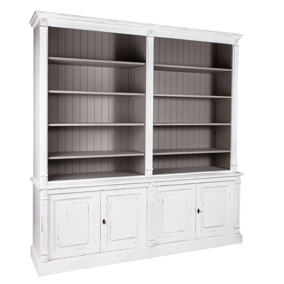 French Large Fluted Open Bookcase