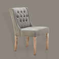 French Button Backed Dining Chair