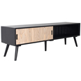 French Media Unit With Siding Door