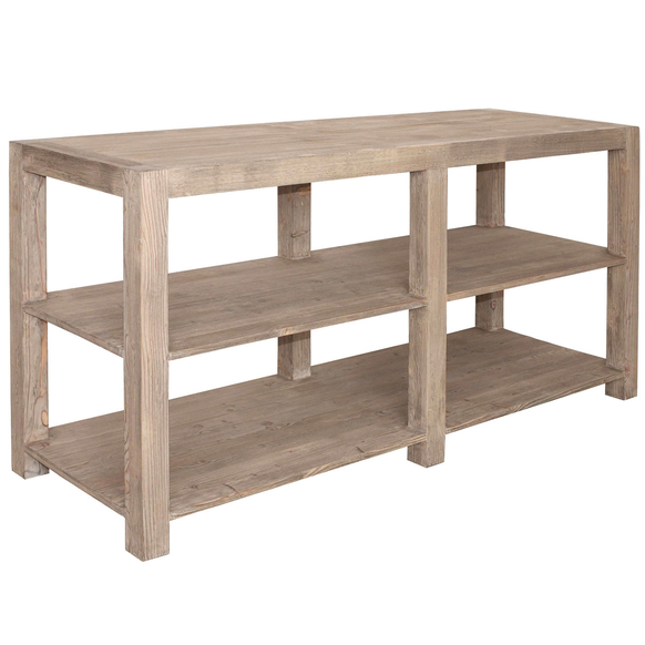 French Wide Console With Two Open Shelves