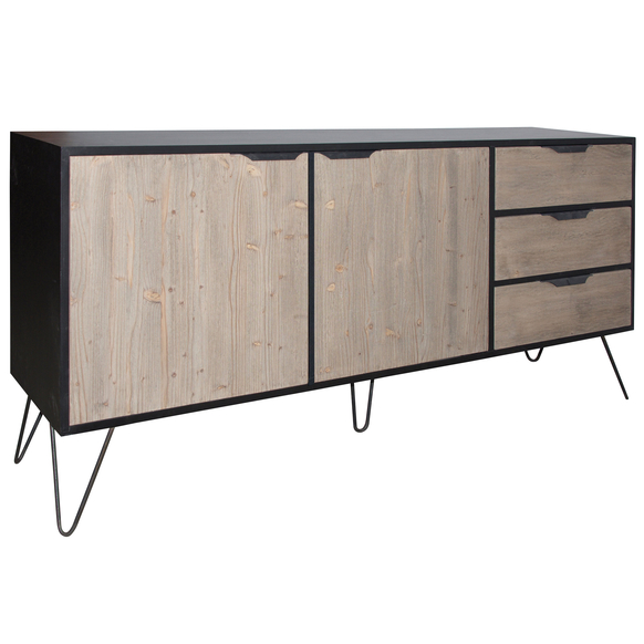 French Wide Sideboard With Metal Legs