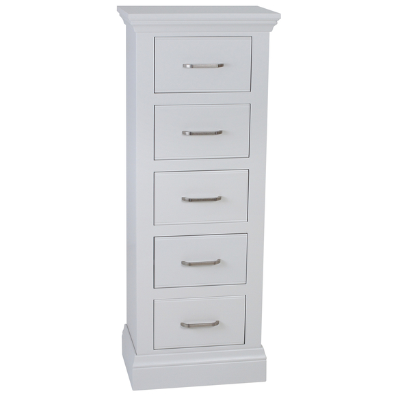Isla Painted Five Drawer Narrow Chest