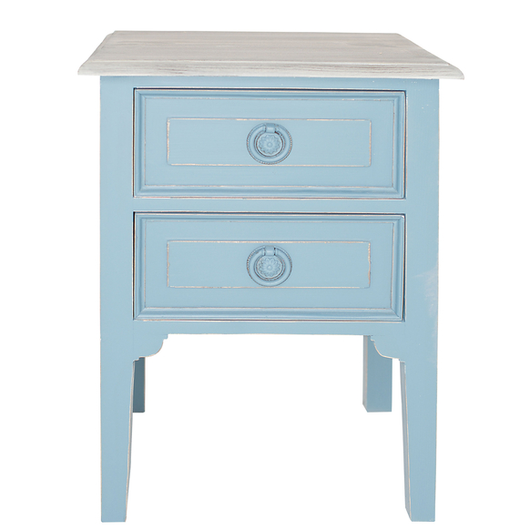 French-2-Drawer-Bedside-Table