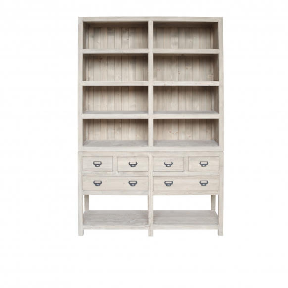 Open-Dresser-with-Drawers
